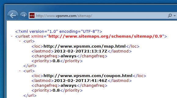 Typecho Google Sitemap 生成器插件 Sitemap