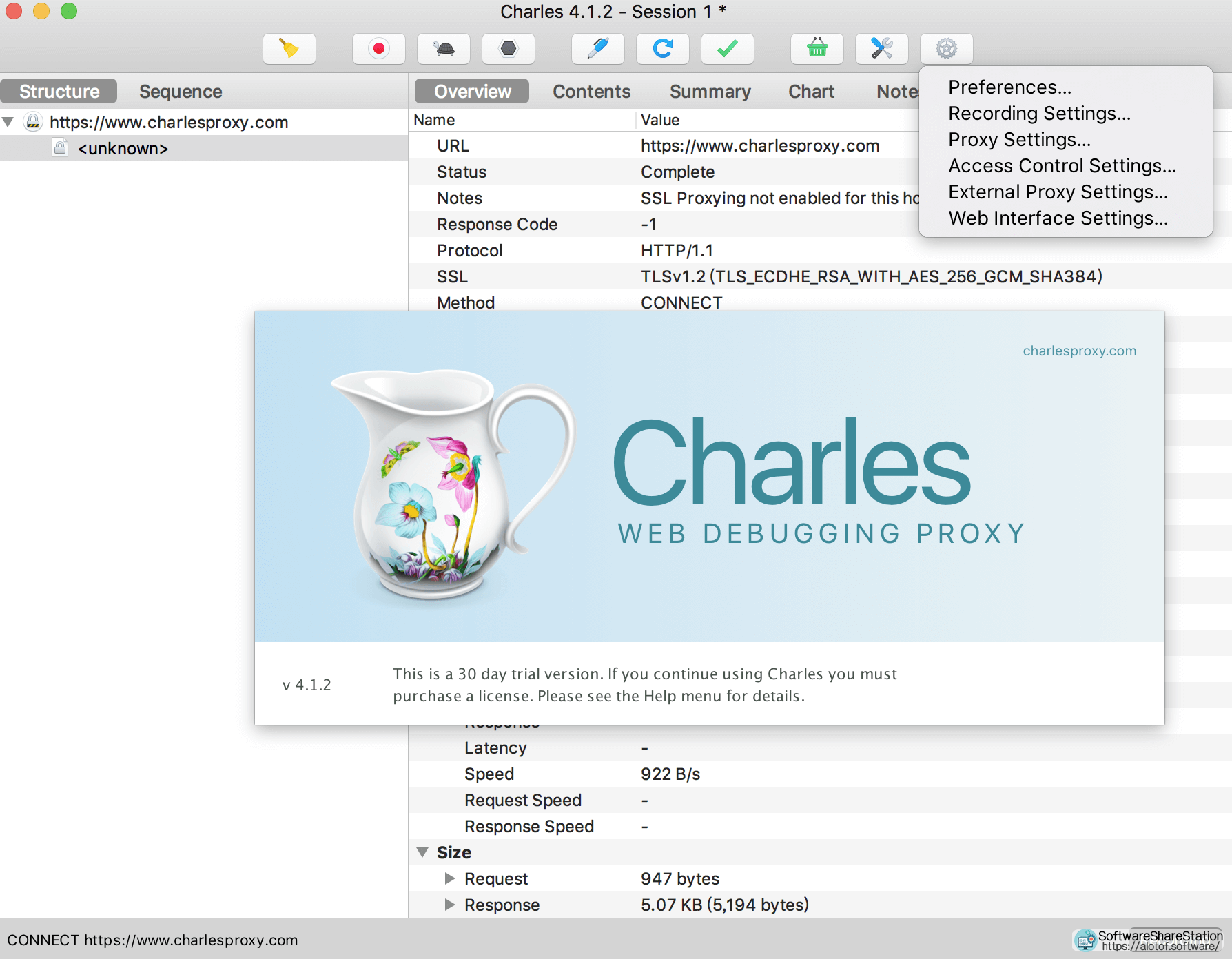 Charles 4.2 for Mac/Windows