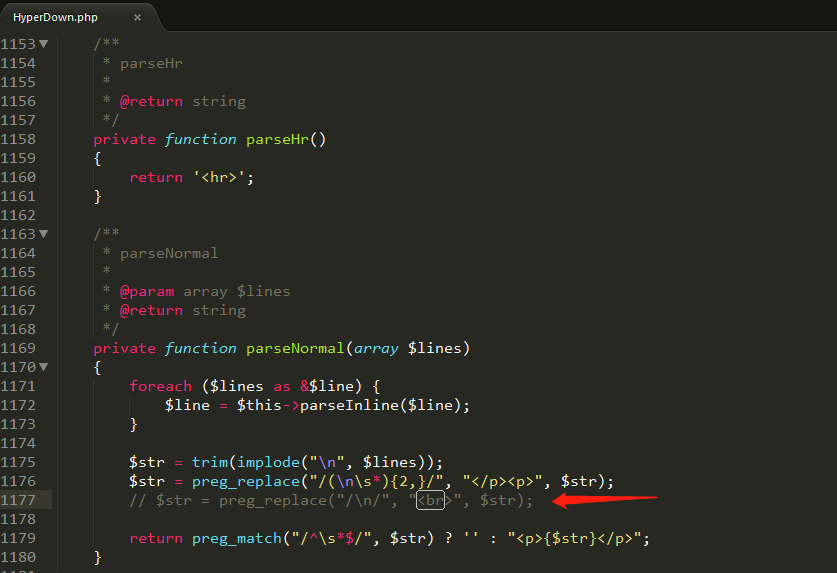 Typecho使用分隔符导致的大量换行问题处理